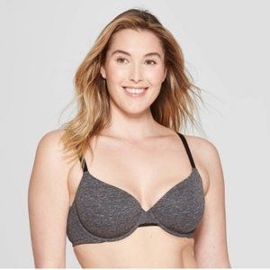 Women's Lightly Lined Cotton Demi T-Shirt Bra 36B